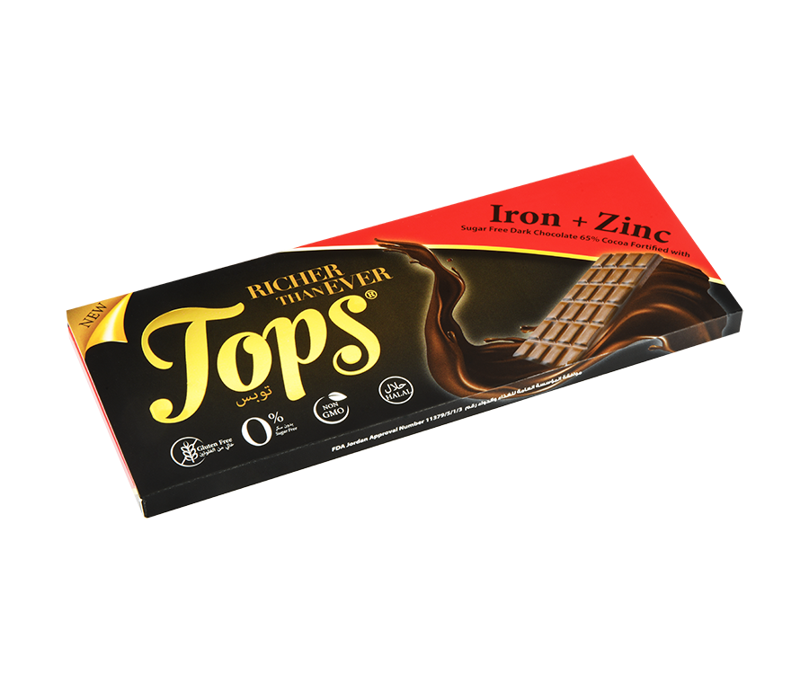 Tops iron+zinc Dark Chocolate